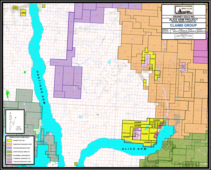 Granby Gold Inc | Alice Arm Claims Stewart Area